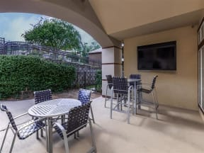 the westcott apartments outdoor seating area