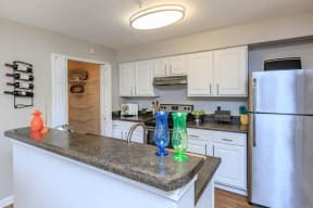 floorplan 1B model unit kitchen