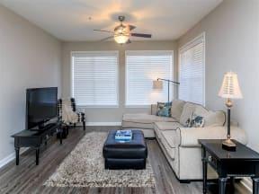 floorplan 2C model unit furnished living room