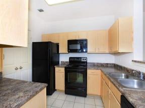 town parc amarillo 3 bedroom apartment kitchen