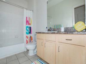 town parc amarillo mini model apartment bathroom