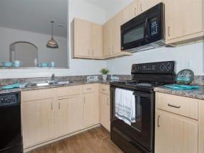 town parc amarillo mini model apartment kitchen