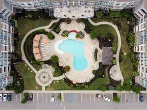 Aerial View Of Pool at The Residence at Marina Bay, South Carolina