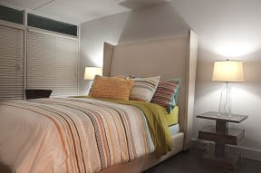 Spacious Bedroom With Comfortable Bed at The Palms on Main, Columbia, SC