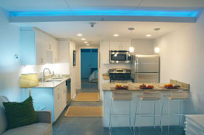 Gourmet Kitchen With Island at The Palms on Main, South Carolina, 29201