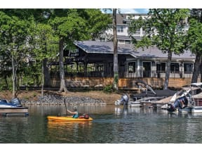 Lake With Boats at Residence at Tailrace Marina, Mount Holly, 28120