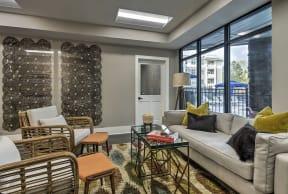 Modern Living Room at Residence at Tailrace Marina, Mount Holly, NC