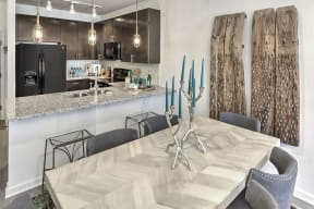 Elegant Dining Area at Residence at Tailrace Marina, Mount Holly