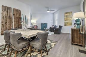 Dinning Area With Living Room at Residence at Tailrace Marina, North Carolina