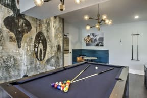 Billiards Table In Clubhouse at Residence at Tailrace Marina, Mount Holly, NC, 28120