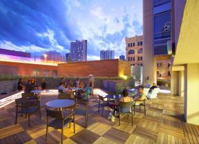 Outdoor deck and lounge |1600 Glenarm