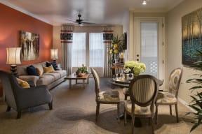 Dining Room With Living Area| Villas at San Dorado