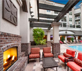 Enjoy a fire by the pool in the courtyard |Rialto