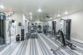 Fitness center at Northland at the Arboretum   Austin apartment complex