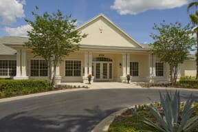 Entrance to clubhouse and leasing office  | Bay Harbor