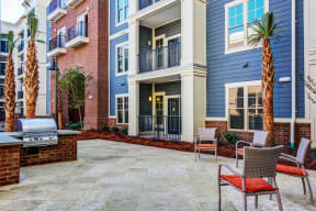 Poolside grills and patio | The Standard