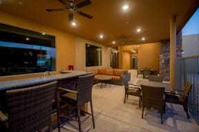 Outdoor lounge with wetbar & seating   Pima Canyon