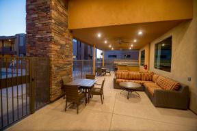 Outdoor patio seating   Pima Canyon