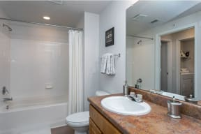 Bathroom with tile surround   Cypress Legends