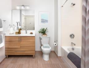Bathroom | The Merc at Moody and Main