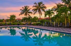Poolside sunset  | Bay Breeze Villas