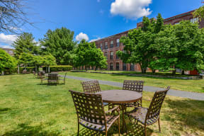 Outdoor gathering space  | Bigelow Commons