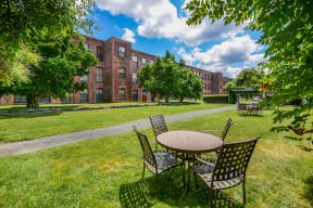 Enjoy the beautiful grounds | Bigelow Commons