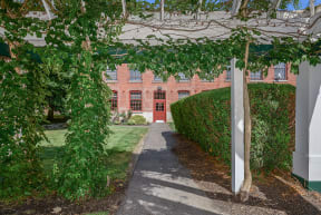 Shaded patio and courtyard  | Bigelow Commons