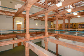 Exposed beams and brick wall accents  | Bigelow Commons