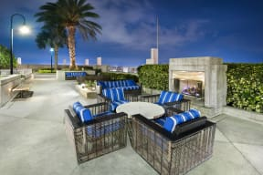 Courtyard lounge with fireplace | Element
