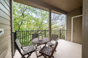 Private balconies and patios   High Oaks