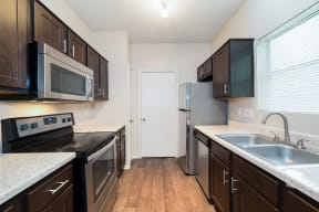 Renovated kitchen with stainless steel appliances  | Canyon Creek