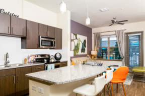 Kitchen equipped with stainless steel appliances |Rialto