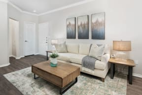 Comfortable Living Room| Lodges at Lakeline Village