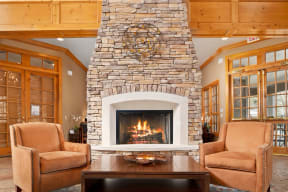 Posh Lounge Area In Clubhouse| Lodge at Lakeline Village