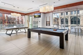 Gather with friends in the game room |1600 Glenarm