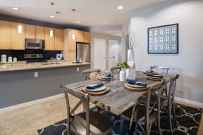 Dining room and kitchen |1600 Glenarm