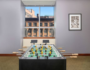 Play a game of foosball in the game room   Hartford 21