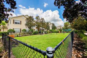 Community dog park  | Estates at Heathbrook