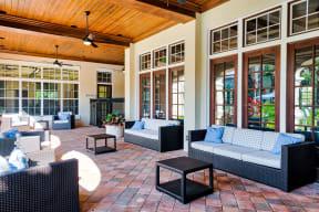 Outdoor patio  | Estates at Heathbrook