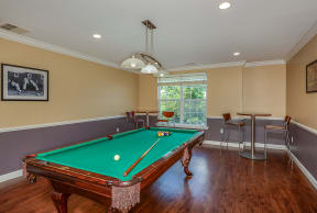 Pool table in clubhouse  | Highlands at Faxon Woods