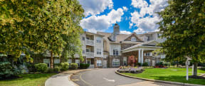 Beautifully manicured grounds  | Highlands at Faxon Woods