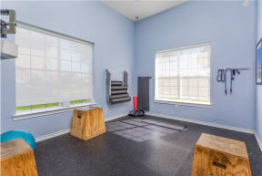 Fitness Center with stretch room   Cypress Legends