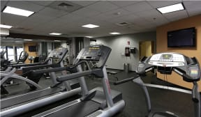 The fitness center is open 24 hrs/day |Residences at Manchester Place