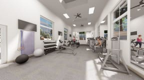 State of the art fitness center   Altitude at Vizcaya