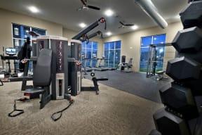 Fitness center   Lofts at Zebulon