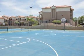 Basketball court    Promontory