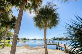 Take it easy in a hammock by the water  | Lakes at Suntree
