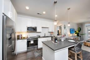 Kitchen with stainless steel appliances   Glenn Perimeter