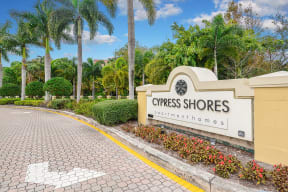 Entrance to community   Cypress Shores
